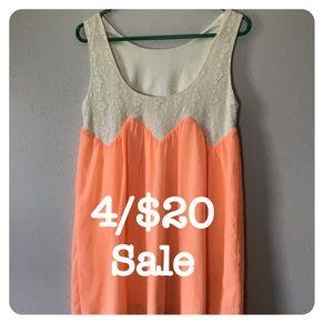 Kori America orange tunic dress small